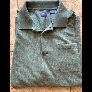 Arrow  2XL short sleeve olive green collar shirt